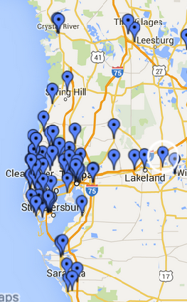 Tampa Bay area brew map closeup - Beer Now Conference: Previously ...